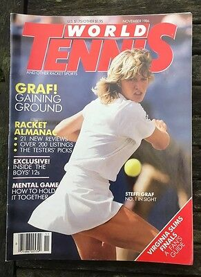 'World Tennis' US Tennis Magazine - November 1986 - Steffi Graf - Racket Review