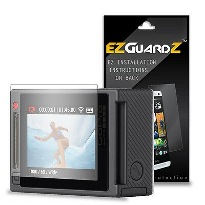 3X EZguardz LCD Screen Protector Skin Cover Shield 3X For GoPro Hero 4 (Clear)