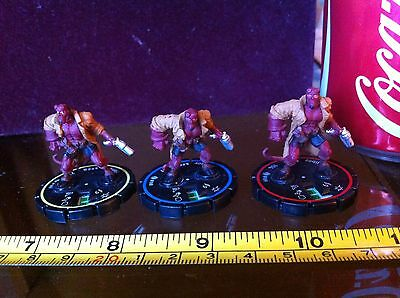 Heroclix Hellboy Rare B.P.R.D. Yellow Blue Red Complete Set