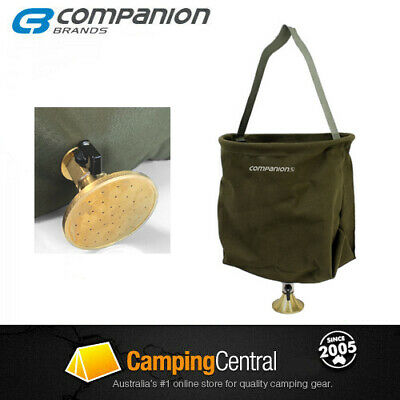 Oztrail Canvas Shower Bucket 20 Litre Camping Camp