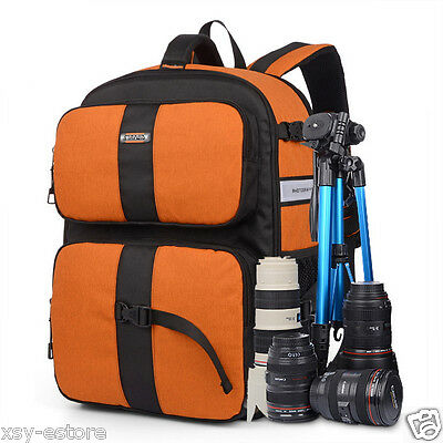 DSLR SLR Digital Camera Backpacks Big Photograph Bag Case Large Space Storing