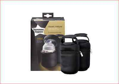 Tommee Tippee Closer Nature Insulated Bottle Carriers 2 Pack Bags Baby Warmer