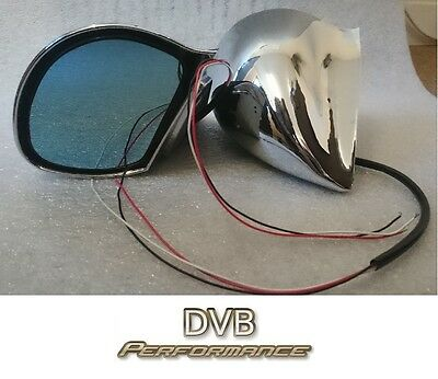 Chrome DTM 3 Wire Electric Car Door Mirrors - 1 Pair