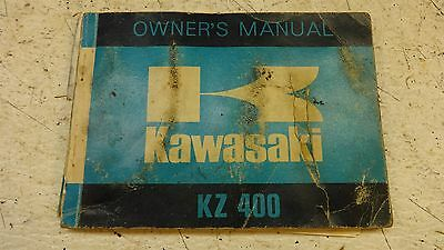 1974 kawasaki kz400 kz 400 k514' owners manual booklet w/ wiring diagram