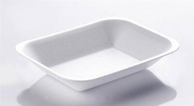 50 x SMALL POLYSTYRENE FOAM CHIP FOOD TRAY (CT1) BBQ CHIPS CHICKEN RICE CHILLI