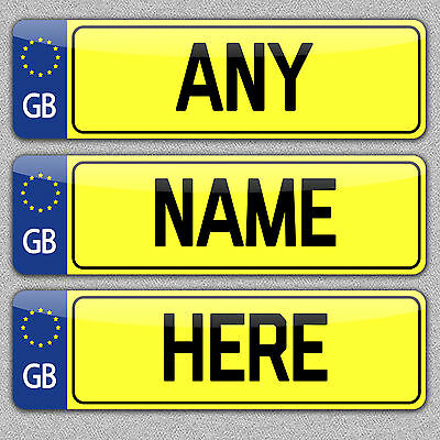 Personalised Mini Number Plate Metal Door/Bedroom/Office Sign/Plaque ANY TEXT