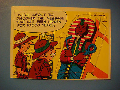 """1968 Topps Rowan & Martin's """"Laugh In"""" USA Trading Card ~ #64 Mummy with Message"""