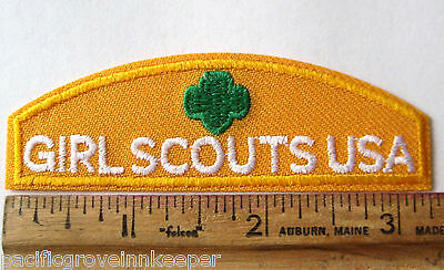 Girl Scout DAISY ID TOP STRIP Yellow Identification Uniform Patch USA Council
