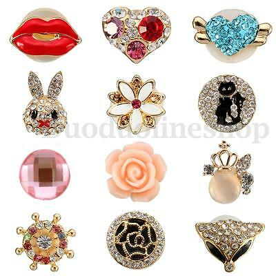 3D Crystal Bling Home Button Sticker Phone Decor For iPhone 4/5/6 iPad iPod Gift