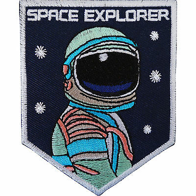 Astronaut Iron On Patch / Sew On Fancy Dress Costume Badge Spaceman Space NASA