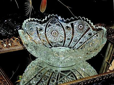 Exceptional Antique American Brilliant Period Pressed  Glass Bowl.