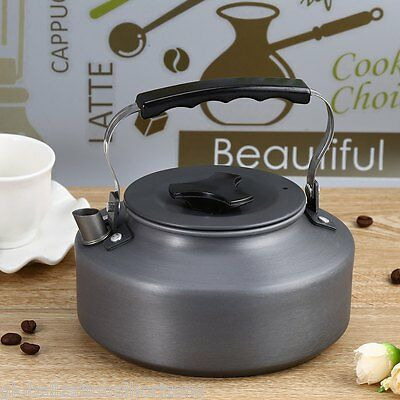 1.1L Portable Outdoor Camping Survival Coffee Pot Water Kettle Teapot Aluminum