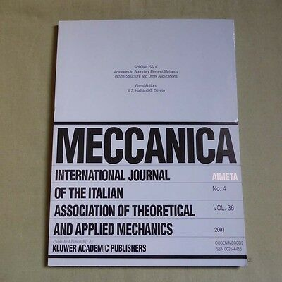 Meccanica 36_4 2001_Boundary Element Methods in Soil-Structure & Applications