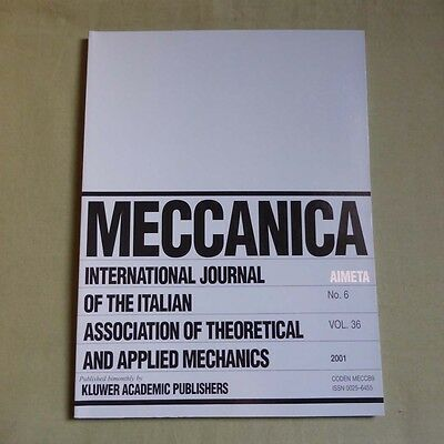 Meccanica 36_6 2001_Theoretical and Applied Mechanics_Topics in Tribology