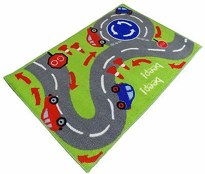 "Kids Childrens Girls Boys Car Cars Track Bedroom Rug Mat 60 X 90Cm 24"" X 36"""