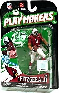 NFL Playmakers Ser 1 Larry Fitzgerald Cardinals 4in Action Figure McFarlane Toys