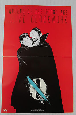 """Queens of the Stone Age - Like Clockwork 2 Sided Promo Posters * 11"""" x 17"""""""