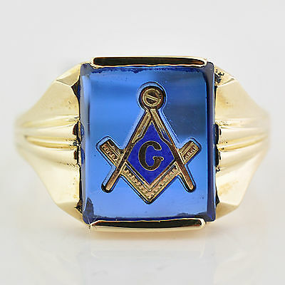 NEW Masonic Ring Blue Lodge Master Mason Freemason Masonry Ring Size 8.5