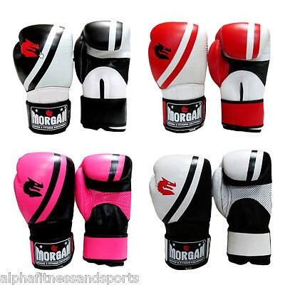 MorganV2  Professional Leather Boxing Gloves Mitts MMA Muay Thai ANBF APPROVED