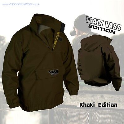 VASS Fishing Waterproof Lightweight Olive Khaki 175 Smock Jacket *All Sizes*