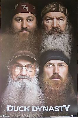 DUCK DYNASTY - BEARDS - LAMINATED POSTER-85cm x 55cm-Brand New