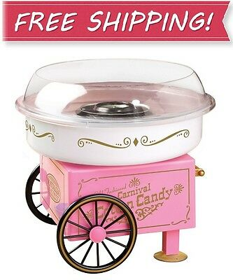 NEW! NOSTALGIA PCM305 Vintage Collection Hard and Sugar Free COTTON CANDY MAKER
