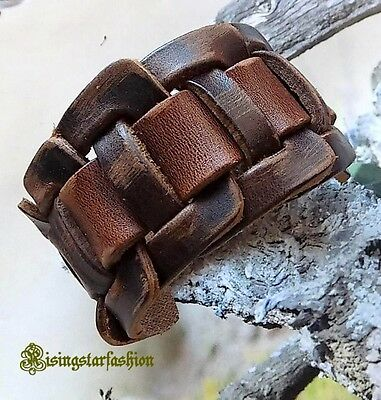 Men's Cool Roman Gladiator Style Inspired Adjustable Leather Bracelet Wristband