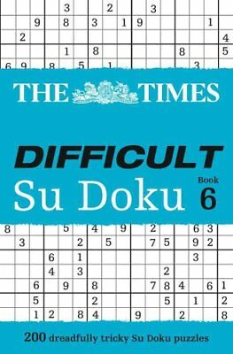 The Times Difficult Su Doku Book 6 by The Times Mind Games (Paperback, 2012)