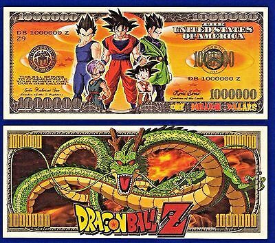 1-Dragon Ball Z  Dollar Bill  -NOVELTY- MONEY-W/clear protector sleeve ITEM -G2
