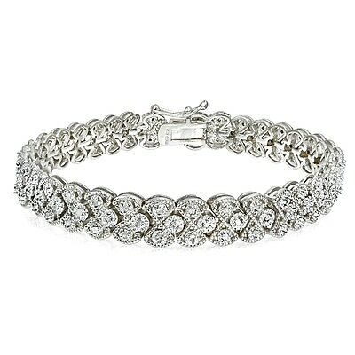 1.00 CTTW Diamond Miracle Set Braided Tennis Bracelet in Brass or Gold Plated