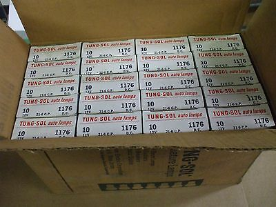 NOS Vintage Tung-Sol No. 1176 Bulbs-20 Boxes of 10 Each-200 Bulbs Total