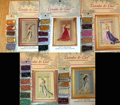 Lavender & Lace CELTIC LADIES Cross Stitch Pattern, Beads, Threads - You Choose