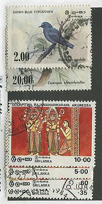 Sri Lanka #693, 694, 708-711 Used