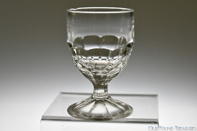 ca. 1864 NEW YORK HONEYCOMB by McKee Brothers Glass FLINT CRYSTAL Egg Cup