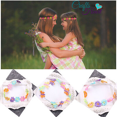 3Pcs Fashion Women Girls Kids Baby Flower Headband Hairband Bohemia Headwear