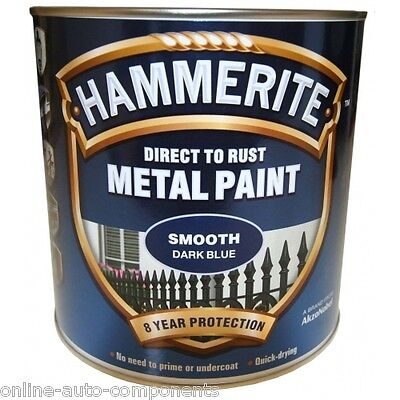Hammerite Direct to Rust Metal Paint - Smooth DARK BLUE 2.5Ltr 2.5L