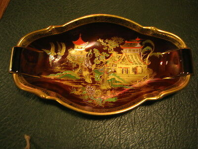 Large Carlton Ware Dish - New Mikado on Rouge Royale Background c. 1960