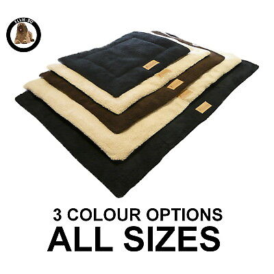 Sherpa Fleece Black, Brown, Beige Cage Mats To Fit Ellie-Bo Crates In All Sizes