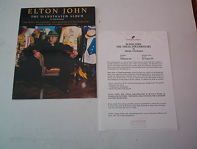ELTON JOHN The Illustrated Album PRESS RELEASE 1993
