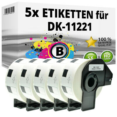 5x Etiketten für Brother P-Touch QL-1050N 1060N 500A 550 570 650TD 700 710W 720