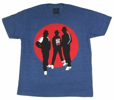 Run DMC Silhouettes Circle Heather Blue T Shirt New Official Merch Soft