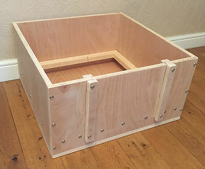 """whelping box 24"""" square apprx wooden whelping box free local delivery or postage"""