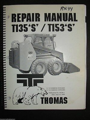 thomas t135 s skid steer loader repair service manual new 44290 rh picclick com Thomas Skid Steer Dealers Thomas Skid Steer Manuals