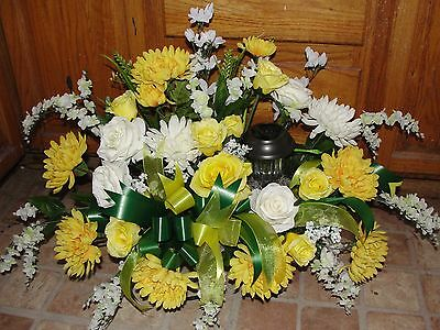Parents Summer Birthday Mom Dad Solar Grave Service Memorial Flowers Cemetery