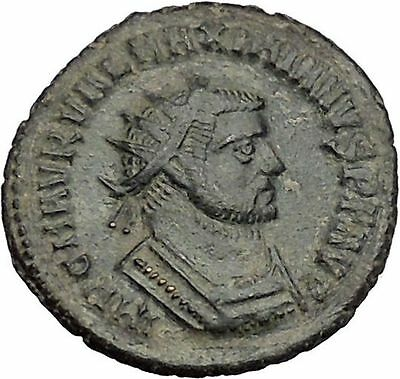 Maximian  Antioch Ancient Roman Coin Hercules gives Victory to Jupiter  i51074
