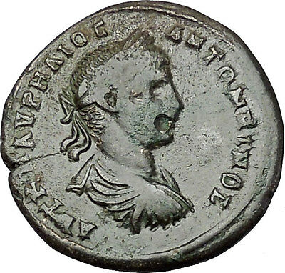 ELAGABALUS 218AD Masrcianopolis HOMONOIA Authentic Ancient Roman Coin i50925