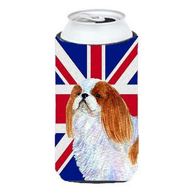English Toy Spaniel With English Union Jack British Flag Tall Boy bottle slee...