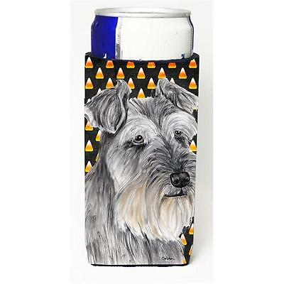 Schnauzer Candy Corn Halloween Portrait Michelob Ultra s For Slim Cans 12 oz.