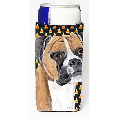 Boxer Fawn Uncropped Ears Candy Corn Halloween Portrait Michelob Ultra s For ...