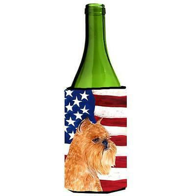 Usa American Flag With Brussels Griffon Wine Bottle Hugger 24 oz.
